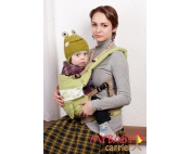 Эрго-рюкзак My Baby Carrier  салатовый с вышивкой птицы