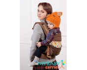 Эрго-рюкзак My Baby Carrier  шоколадный со вставкой огурцы