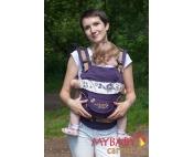 Эрго-рюкзак My Baby Carrier  фиолетовый с вышивкой бабочка