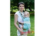 Эрго-рюкзак My Baby Carrier  бирюзовый с вышивкой бабочки