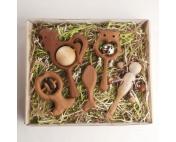 Большой подарочный набор погремушек и грызунков