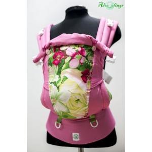 Цветы и розовый эргорюкзак Алое Simply (кроха-минус)