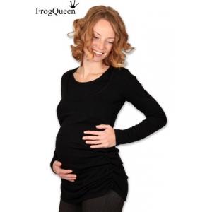 Лонгслив для беременных и кормящих Линдра черный