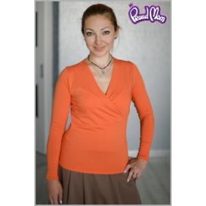 """Блуза для кормящих """"Сюрприз"""" апельсин"""