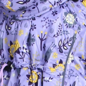 Слингодождевик Цветы на сиреневом ТМ Гусленок