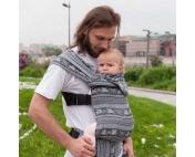 Слинг-рюкзак Карауш Kuzma Graphite растущий беби