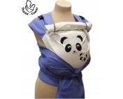 Панды голубой/беж рюкзак-май Тедди слинг