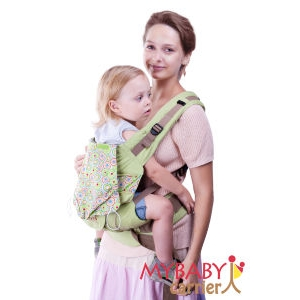 Эрго-рюкзак My Baby Carrier  салатовый диско