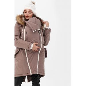 Зимняя слингокуртка - парка 3 в 1 с мехом Коричневый