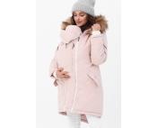 Слингокуртка зимняя - парка 3 в 1 с мехом Розовый