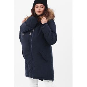 Зимняя слингокуртка - парка 3 в 1 с мехом Синий