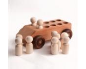 """Деревянная машинка """" С 10 пассажирами"""""""
