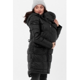 Слингопальто-слингокуртка зимняя пуховая 3 в 1 Черная