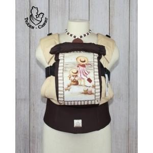 Эрго-рюкзак Тедди слинг ЛЮКС Детское настроение с лопаткой