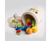 """Счетный материал """"Найди пару фруктов в бочке"""""""