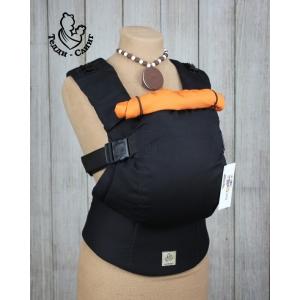 Эрго-рюкзак Тедди слинг ЛЮКС Black оранжевый