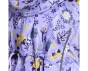 Слингонакидка плащевка утепленная - Цветы на сиреневом
