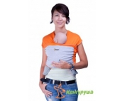 Трикотажный слинг-шарф Кенгуруша Mix апельсин-серый меланж