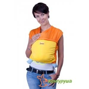 Трикотажный слинг-шарф Кенгуруша Mix апельсин-солнечный