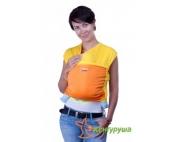 Трикотажный слинг-шарф Кенгуруша Mix солнечный-апельсин