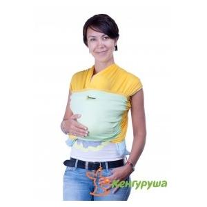 Трикотажный слинг-шарф Кенгуруша Mix солнечный-фисташка
