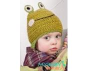 Лягушонок Квака вязаная шапочка