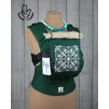 Эрго-рюкзак Тедди слинг ЛЮКС Квадратный орнамент зеленый