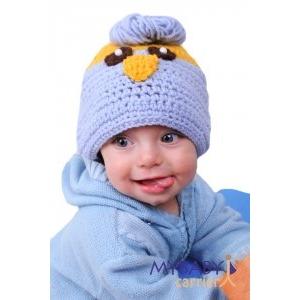 Синичка вязаная шапочка