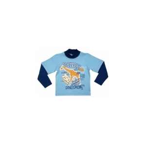 Лонгслив Жираф голубой/синий
