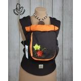 Эрго-рюкзак Тедди слинг ЛЮКС Кленовый листочек оранжевый