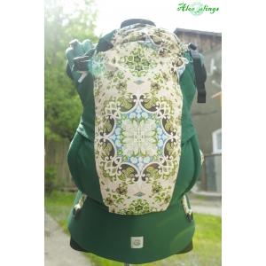 Зеленые орнаменты и сосновый эргорюкзак Алое Simply (кроха)