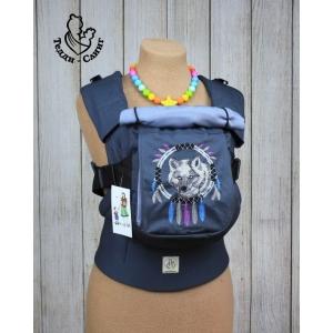 Эрго-рюкзак Тедди слинг ЛЮКС Волк с изогнутыми анатомическими лямками без кармана