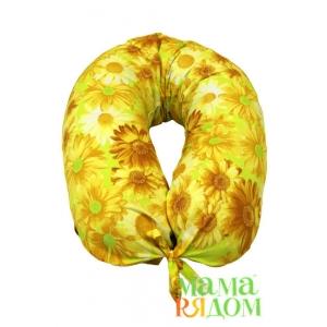 Подушка для кормления МамаРядом холофайбер, наволочка Солнечное лето в подарок