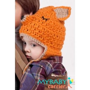 Детская вязаная шапочка Лисичка-сестричка
