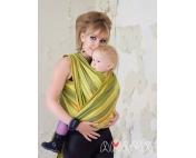 Слинг-шарф Амама Табатай зеленый полосатый