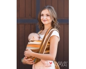 Слинг-шарф Амама Табатай коричневый полосатый