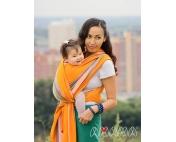 Слинг-шарф Амама Табатай разноцветный полосатый