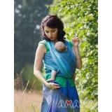 Слинг-шарф Амама Табатай бирюзовый полосатый