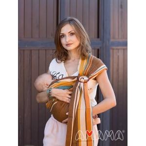 Слинг с кольцами Амама Табатай коричневый полосатый