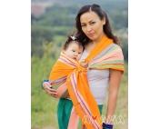 Слинг с кольцами Амама Табатай разноцветный полосатый