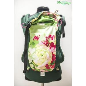 Цветы и темно-зеленый эргорюкзак Алое кроха-минус