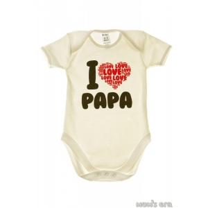 "Боди детское ""I love Papa"", молочн."