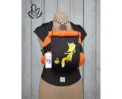 Эрго-рюкзак Тедди слинг ЛЮКС Лисенок с хвостиком оранжево-коричневый
