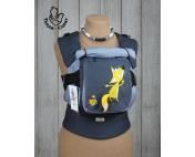 Эрго-рюкзак Тедди слинг ЛЮКС Лисенок с хвостиком серый