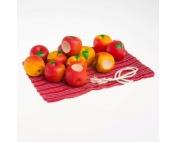"""Счетный материал """"Наливные яблочки"""" в льняном мешочке"""