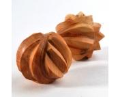 Тактильные можжевеловые шарики рифлёные
