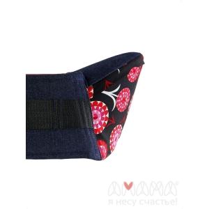 Хипсит Амама Красные цветы на черном