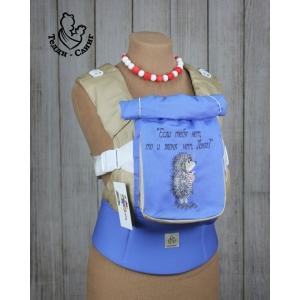 Эрго-рюкзак Тедди слинг ЛЮКС Ежик в тумане синий