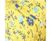 Слингонакидка плащевка утепленная - Цветы на желтом