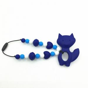 Лисичка синяя силиконовый прорезыватель